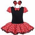 Nueva Minnie Mouse Kids Party Girls Vestido de Lujo Del Traje de Ballet Tutú de Las Muchachas