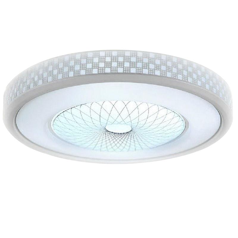 Modern LED Round Acrylic Lighting Chandelier Ceiling Lamp Light Flush Mount ...