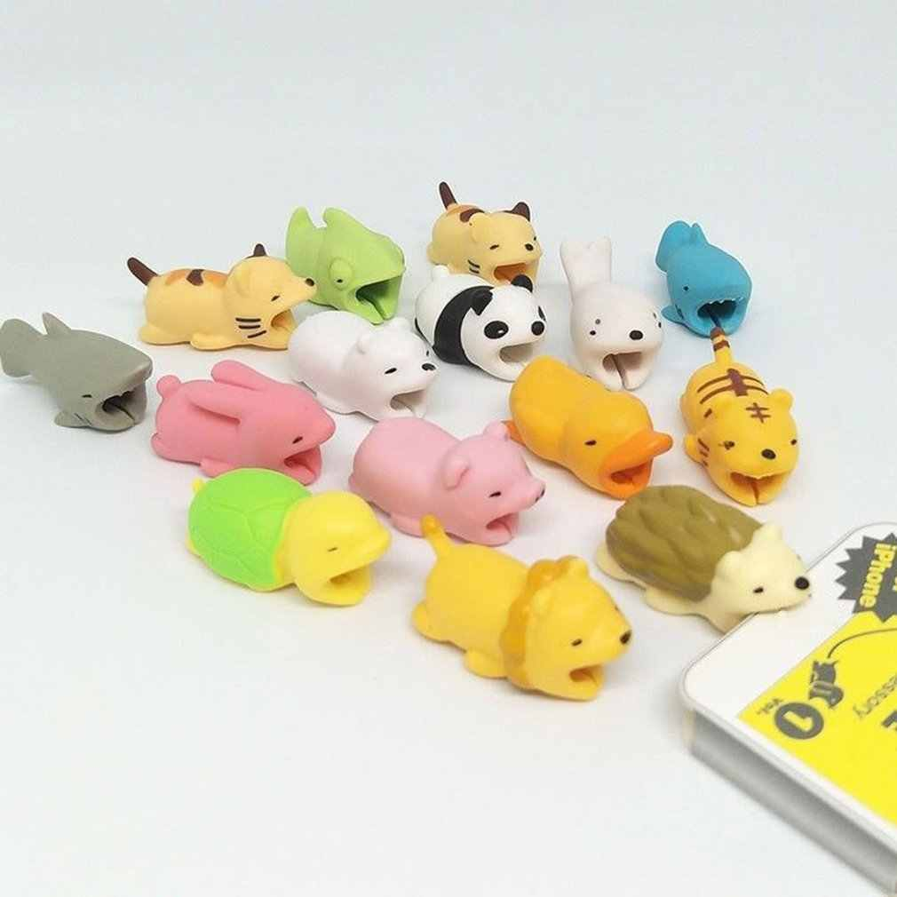 Cute Cartoon Cable Bites Protector For iPhone Winder Protective Case Saver For Mouse Headphone Earphone Cover Organizer protetor