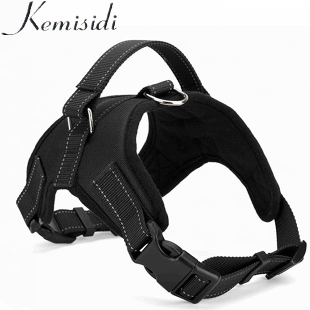KEMISIDI Large Dog Reflective Harness Collies Collar Neoprene Vest Dog Training Pet Saddle Harness Pets Vest Dog Leads S/M/L/XL