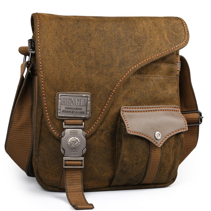 2018 Ruil men Canvas bags New Multifunction Crossbody bag Vintage handbags Travel Shoulder Messenger Bags Leisure