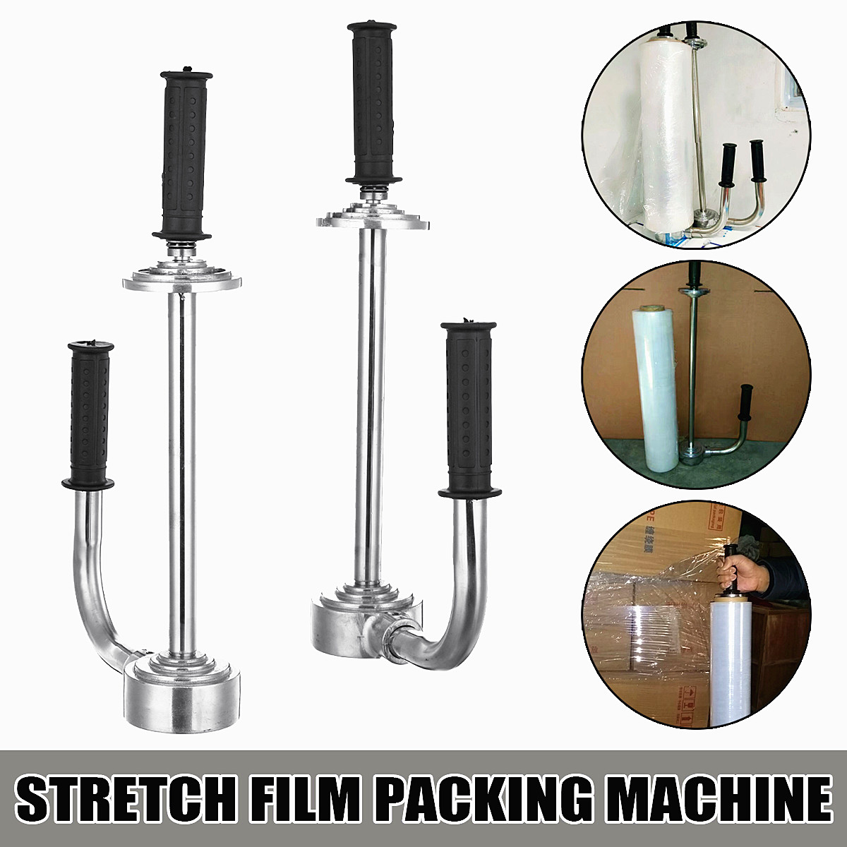 12 20 Handy manual handle stretch film wrapping dispenser tools pallet stretch packing equipment carton package