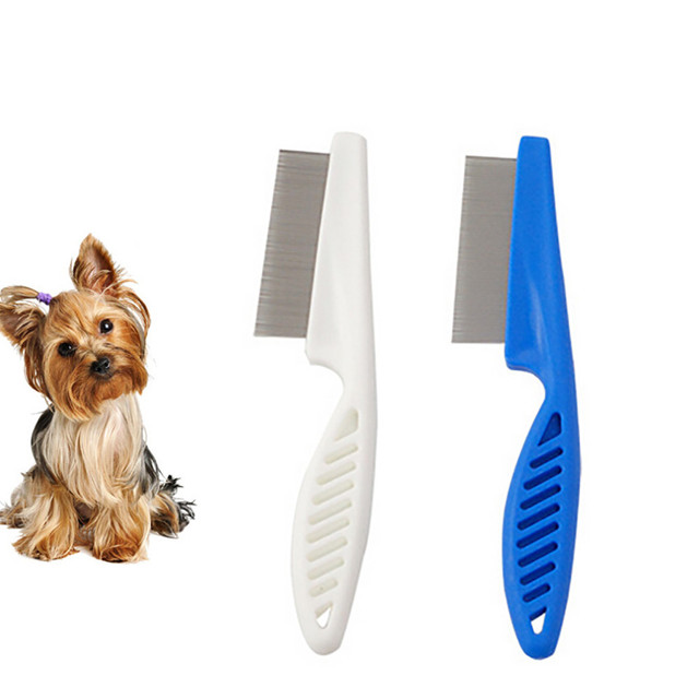 Dog Pet Hair Grooming Comb Flea Shedding Brush Puppy Dog Stainless
