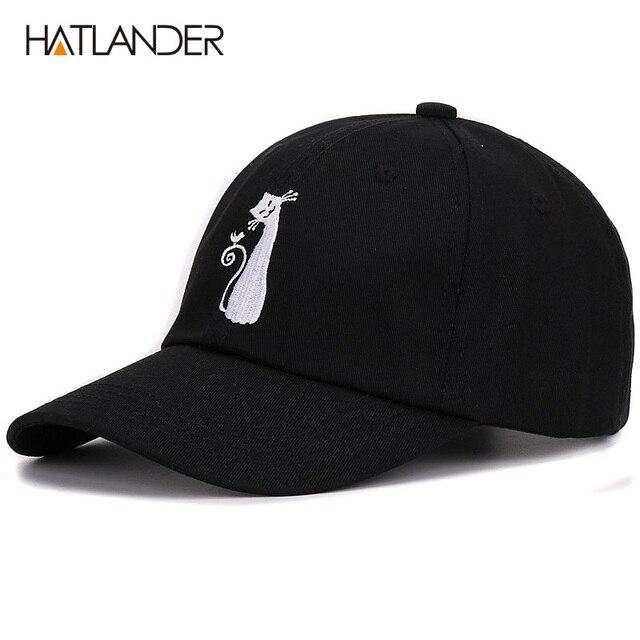 9b4a281a142d2 Hatlander casual branded boys baseball caps hip hop snapback drake dad hat  cat sun golf cotton