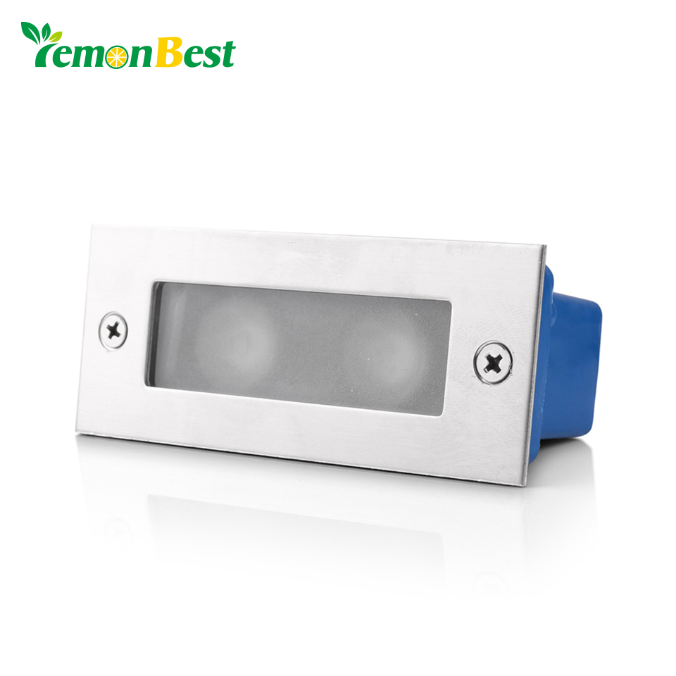Canned Ceiling Lights Basement Stairs: Lemonbest 2W LED Recessed Step Stair Wall Light Waterproof