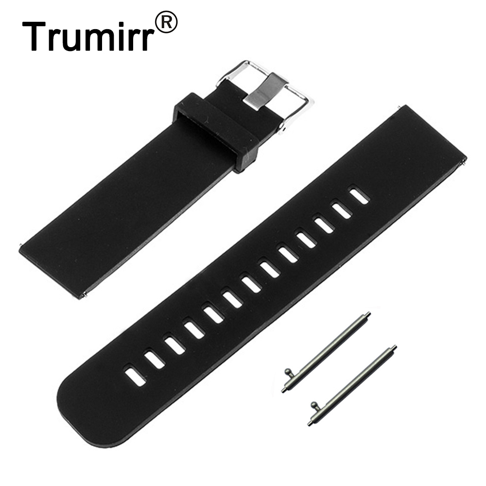 22mm Quick Release Watch Band for Motorola Moto 360 2 Gen 46mm 2015 Samsung Gear 2 R380 R381 R382 Silicone Rubber Strap Bracelet hot 22mm white 100% genuine leather watch strap bands for motorola moto 360 smart watch