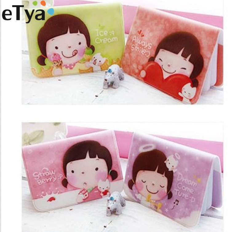 купить eTya New Arrive Cute Cartoon Girls Purse Credit Card Holder Wallet Name ID Business Cards Holder Case Bag Protector