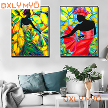 5d DIY Diamond Painting Full Square Embroidery African Style Woman Picture of Rhinestones Mosaic Set Handmade Crafts