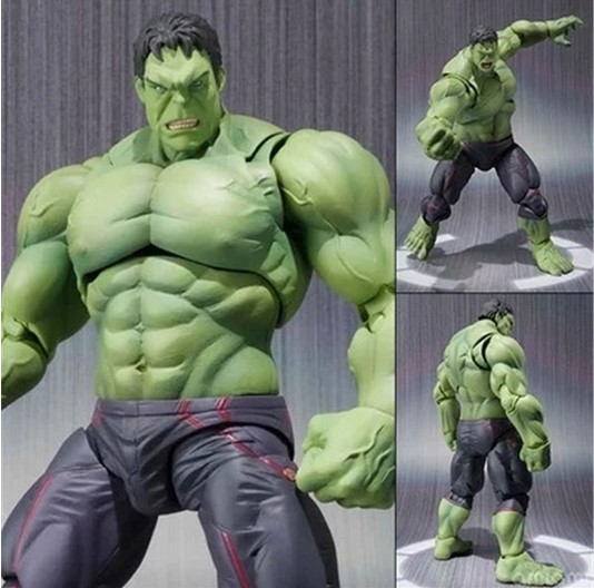 Super Hero The Avengers Movie Hulk Action Figures Juguetes PVC Model Dolls Movable Anime Figure Kids Toys