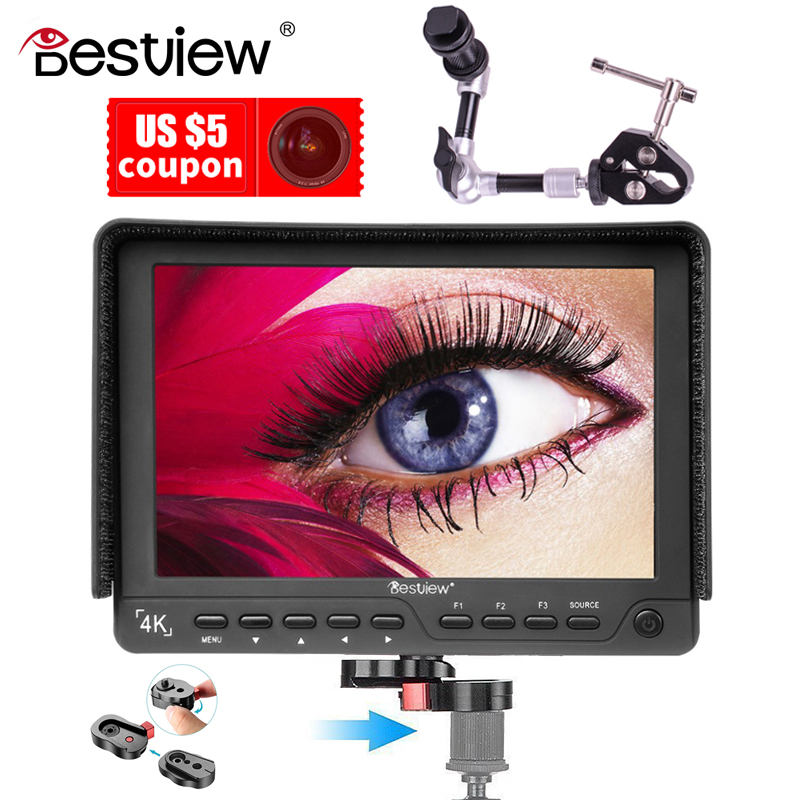 Bestview S7 4K 7 inch 1920*1200 HDMI HD High-quality video camera monitor for shooting video TFT field and magic arm crab clamp