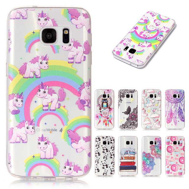 new style 2c293 290bd US $1.99 |For Phone Case Samsung Galaxy S7 Cover Unicorn Donuts Panda  Silicone Case sfor Samsung Galaxy S7 Case G9300 For Samsung S7 Funda-in  Fitted ...