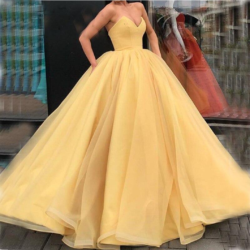 Robe de bal bouffante jaune Simple robe de Quinceanera chérie robes de fête robes d'occasion spéciale robes douces 16 robes Vestido Longo