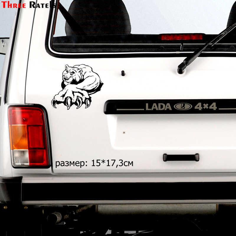 Drie Ratels TZ-976 #15*17.3 cm 1-5 stuks vinyl auto sticker beer boxer auto stickers