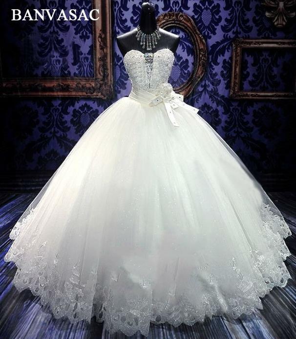 BANVASAC 2017 नई लक्जरी क्रिस्टल - शादी के कपड़े