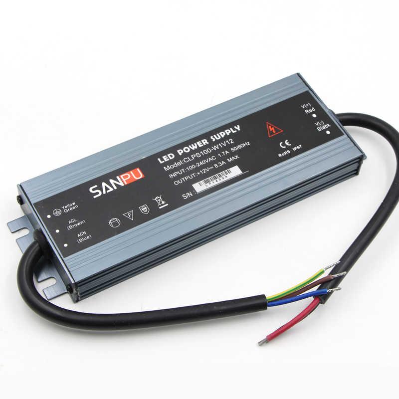 Ultra mince étanche IP67 LED bande adaptateur de puissance AC DC 12 V 24 V 10 W 60 W 100 W 150 W 200 W 300 W alimentation de transformateurs d'éclairage