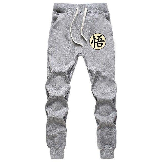 Casual Funny Print Dragon Ball Goku Mens Pants Cotton Autumn Winter Gray Men Joggers Sweatpants Plus Size Black Trouser pantalon 3