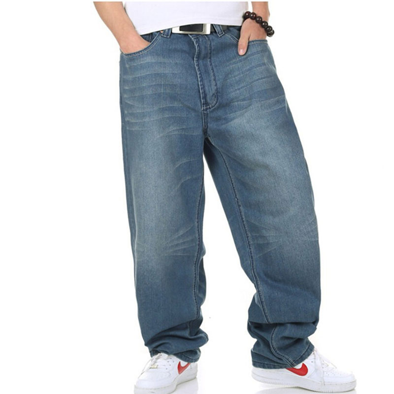 Harem Style Big Yards Jeans Male Tide Of New Hip Hop Baggy Jeans Hip- Colored Loose Straight Jeans Pants Skateboard Plus Size 46