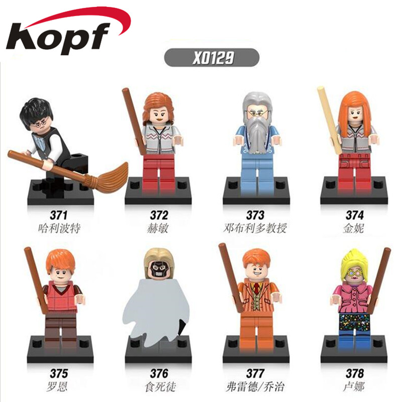 Super Heroes Harry Potter Hermione Jean Granger Ron Weasley Lord Voldemort Ginny Death Eater Building Blocks Children Toys X0129 hao gao le 40set harry potter blocks hermione ron lord voldemort draco malfoy building blocks models toy
