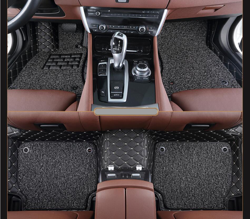 Tapis de sol Auto pour BMW E84 X1 sDrive xDrive 2010-2017 tapis de pied tapis de haute qualité broderie fil de cuir bobine 2 couches