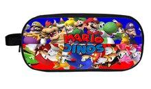 Super Mario Bros Pencil Holder Sonic font b Children b font School Case Bag Kids Cartoon