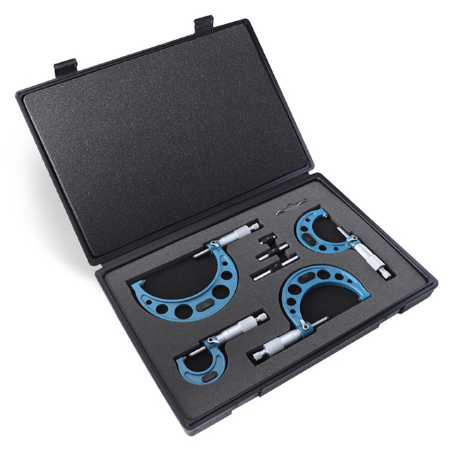 """4 sztuk/zestaw w wieku 0-4 """"precyzyjne 0.01mm na zewnątrz zestaw mikrometrów z węglików spiekanych miernik metryczny gwint śruby zacisk narzędzie pomiarowe zestaw"""