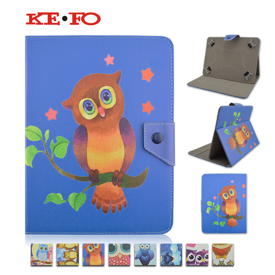 Universal 7 inch for DNS AirTab E76/E77/E78 OWL Cartoon PU Leather Stand Cover Case For 7.0 inch P3100 T110 T230 +Film