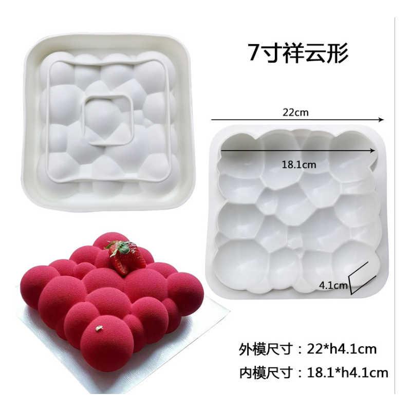 1 шт силикагель плесень французский десерт итальянский белое сердце круглая подушка выпечки Форма для пирога