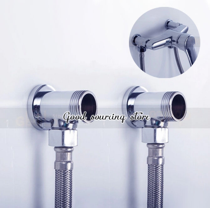 Brass Shower Faucet Conceal Reveal Adapter