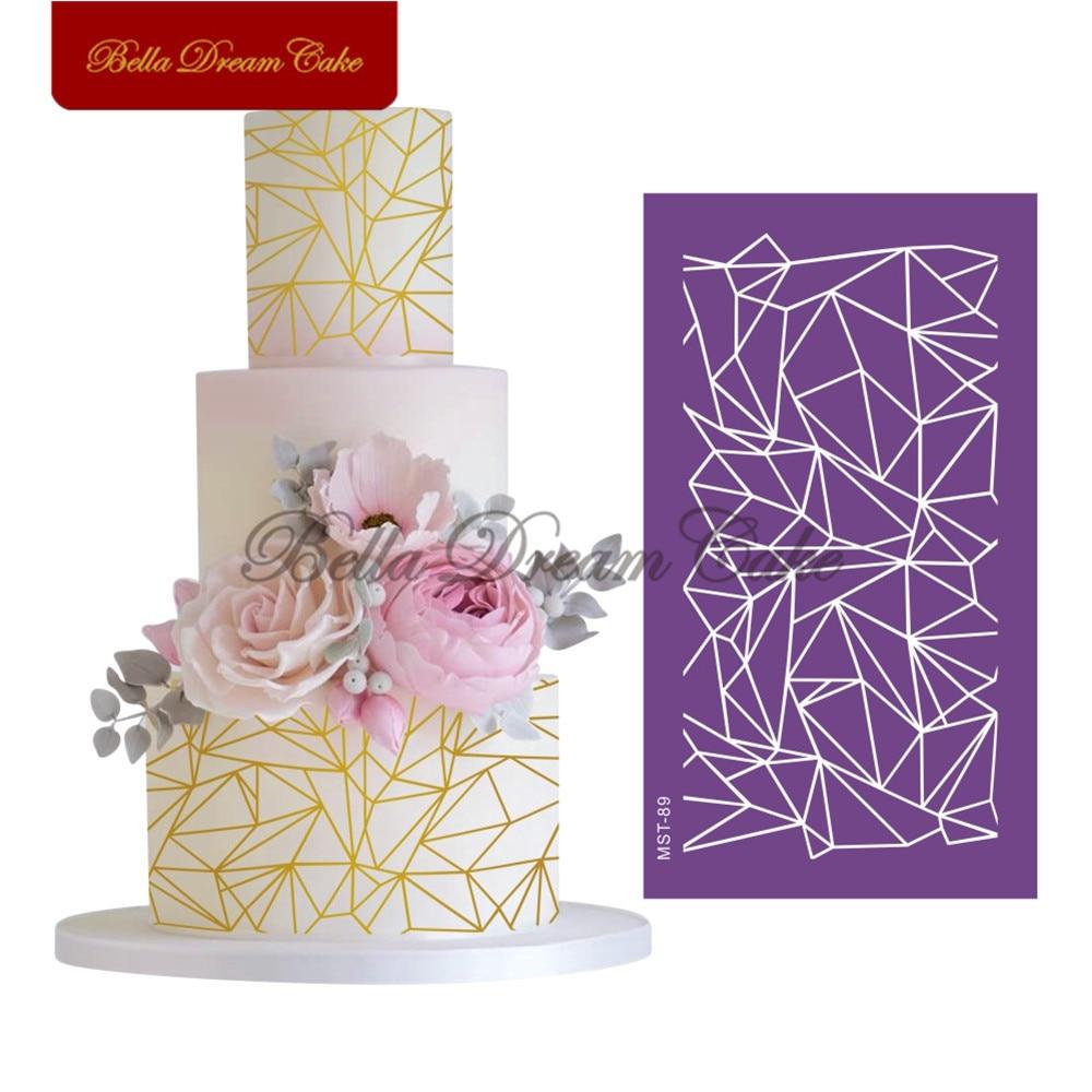 Irregular Lace Design Cake Stencil Mesh Stencils For Wedding Cake