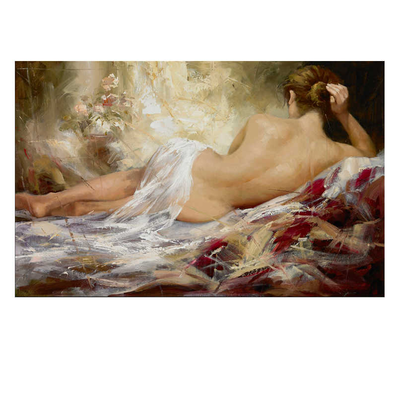 Sexy Nude Woman Body Oil Painting On Canvas Posters And Prints Scandinavian Wall Art Picture For Living Room Home Decoration Aliexpress
