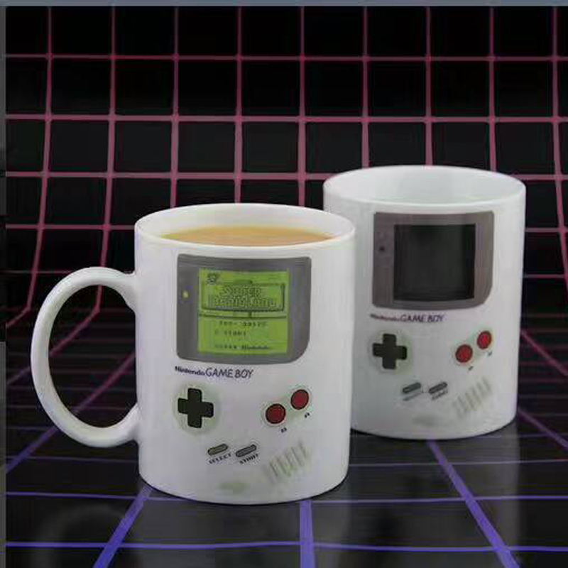Game Boy Color Changing Mug White Ceramic Milk Tea Cup Heat Change Mug For Kids Christmas Gift Drop Shipping