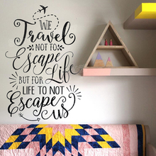Travel Quote Art Wall Stickers Bedroom Inspiration Words Vinyl Wall Decals Living Room Home Decor Self Adhesive DIY Decal JW358
