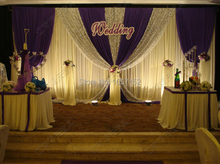 Top-rated wedding backdrop Wholesale stage decoration wedding supplies 10ft*20ft Stage Backdrop with Detachable Swag