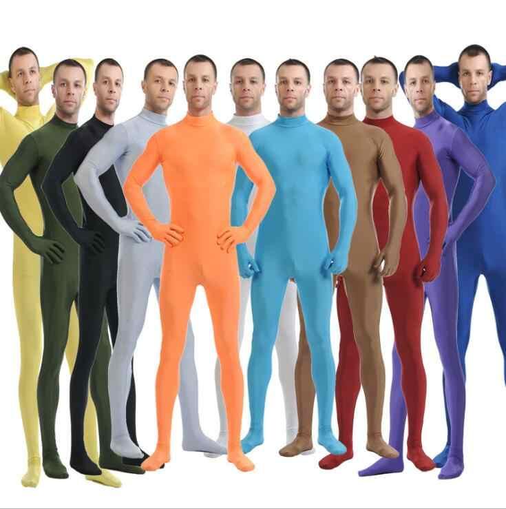 Nuevo Spandex Zentai de cuerpo completo de piel apretado mono Unisex Zentai traje de Mono para las mujeres leotardo Lycra ropa