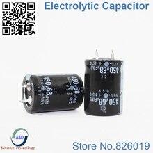 6 шт./лот 450 В 68 мкФ радиальный DIP Алюминий электролитический Конденсаторы размер 22*30 68 мкФ 450 В