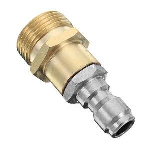Image 5 - Tête de connecteur à connexion rapide, buse filetée M22 pour mousse, lave linge à haute pression