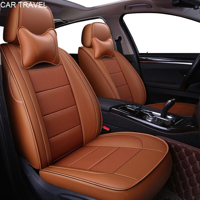 Housse de siège de voiture en cuir véritable pour Volkswagen vw passat polo golf tiguan jetta touareg Sharan accessoires auto sièges de voiture