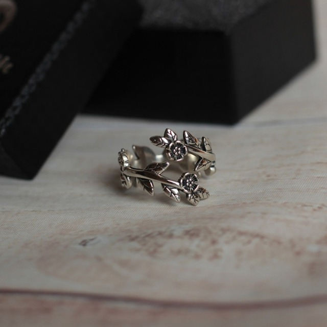 925 Sterling Silver Flower Ring Elegant Wedding Engagement Garden Ring Wholesale 2018 Fashion Jewelry Best Gift Say You Say Me