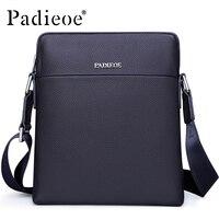 Padieoe бренд Для мужчин сумка коровьей Пояса из натуральной кожи мужской Crossbody сумка маленькая Курьерские сумки