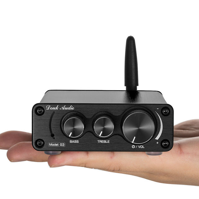 Nobsound Latest Mini TPA3116 Bluetooth 5.0 HiFi Power Amplifier Stereo Home Audio Amp With Treble Bass