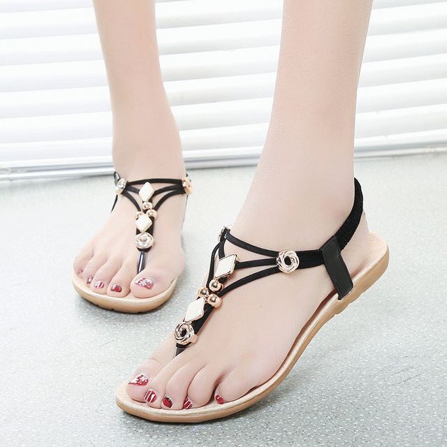a362bfe041598 Women s sandals 2016 Summer Shoes Flats Sandals Bohemia Style Flip-Flops  Sandale Femme Ladies Sandals