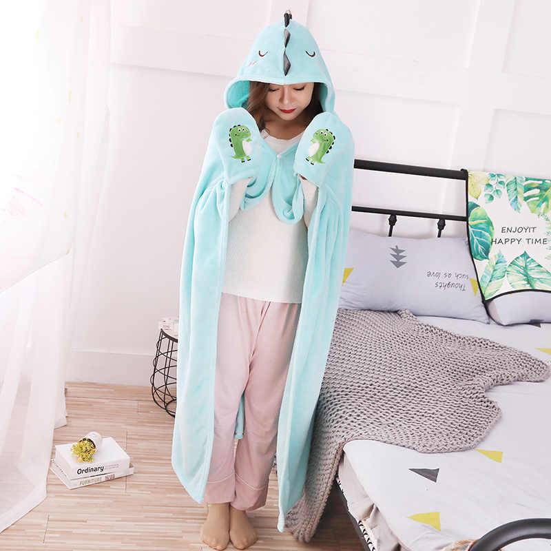 Kawaii Dragão dinossauro de brinquedo de Pelúcia xale manto Cobertor macio Pequenos animais cosplay Alta qualidade requintado presente de aniversário presentes