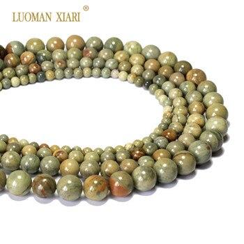 f7bbbc269edd Venta al por mayor AAA + hoja de plata Jaspers Piedra Natural perlas para  joyería hacer