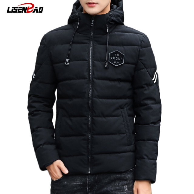 Flash Sale LiSENBAO Winter fashion Hooded men's jacket 2018 Brand Casual quality Mens Jackets And Coats Thick Men Outwear 4XL Male Clothing