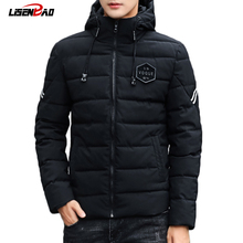 LiSENBAO Winter fashion Hooded mens jacket 2019 Brand Casual quality Mens Jackets And Coats Thick Men Outwear 4XL Male Clothing