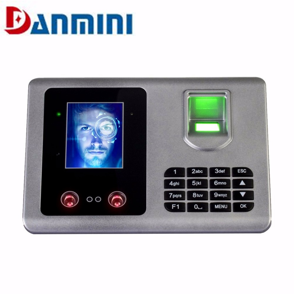 Danmini A302 Facial Recognition Fingerprint Recognition TFT Biometric Fingerprint Time Attendance Clock Recorder US UK EU AU цена