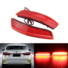 ANGRONG 2x Red Rear Bumper Reflector LED Stop Brake Light For Lexus ES GS 250 For Toyota Corolla Car Accessories
