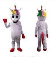 Little pony mascot costume Rainbow unicorn Mascot Costume Christmas Fancy Dress Halloween Mascot Costume Free Ship