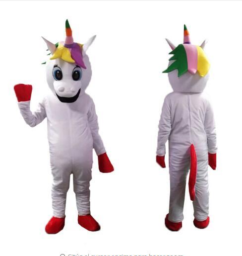 Petit poney mascotte costume arc-en-ciel licorne mascotte Costume de noël déguisement Halloween mascotte Costume livraison gratuite