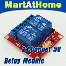 Free Shipping New 5V 2-Channel Relay Module Shield for ARM PIC AVR DSP Electronic 10A #BV088 @CF
